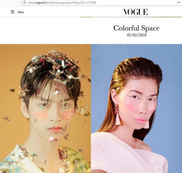 Ngoài Trần Nghĩa, một người mẫu Việt Nam khác là Kim Phương cũng vinh hạnh xuất hiện trên chuyên trang danh giá này.