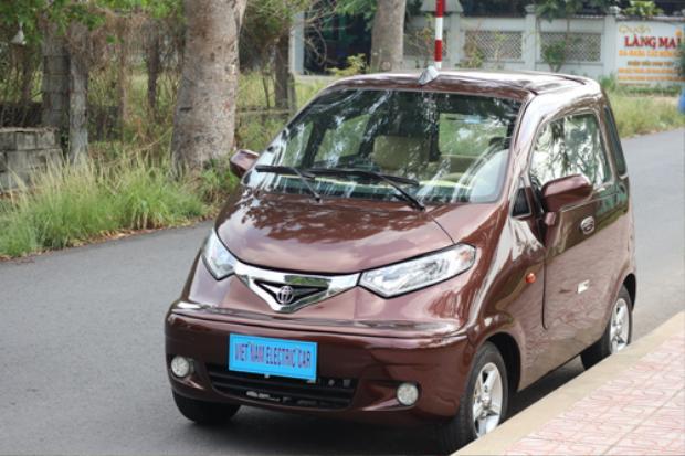 Mẫu ôtô điện của ông Trần Văn Tâm ở Củ Chi, TP. HCM.