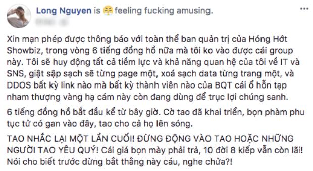 Bị tung tin thất thiệt, Rocker Nguyễn điên tiết cãi tay đôi cùng anti-fan bất chấp hình tượng