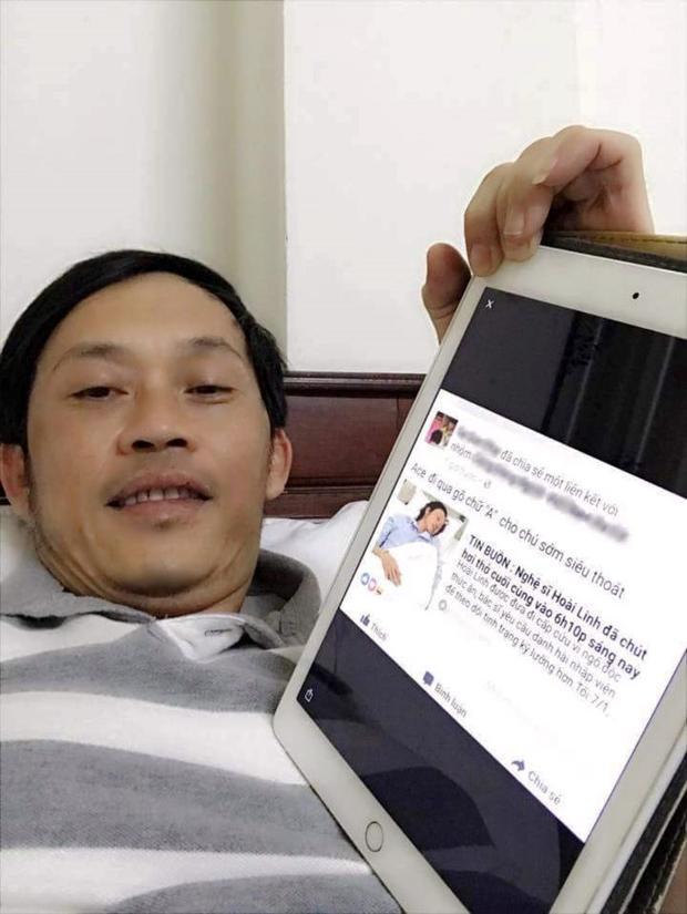 Hoài Linh bị tung tin đồn thất thiệt rằng đã qua đời mặc dù chỉ đang nằm trên giường bệnh.