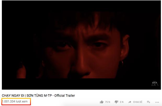 Với sức hút của official trailer, clip 44 giây này chỉ cần đúng 16 giờ để chạm mốc 1 triệu lượt xem.