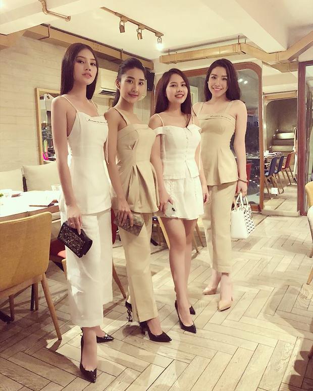 """Khánh Phương """"đọ"""" sắc cùng hội bạn thân nhà giàu sành điệu."""