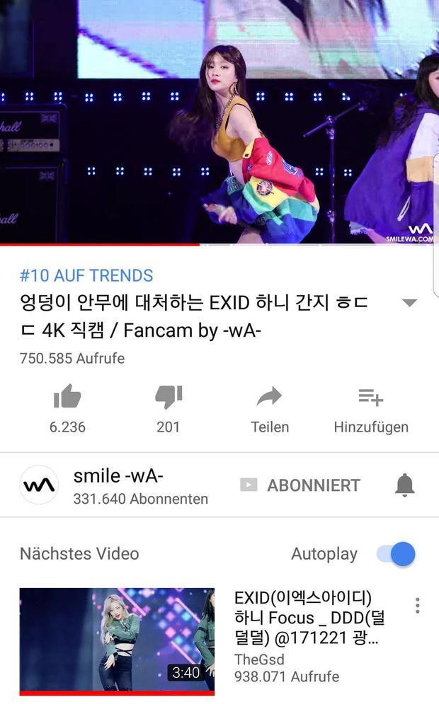 Fancam lọt top video thịnh hành tại Hàn…