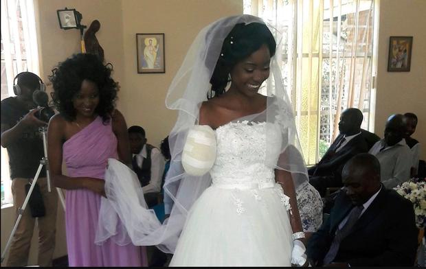 Ndlovu hạnh phúc trong ngày trọng đại nhất đời mình.