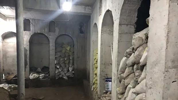 Căn hầm khá rộng và được xây dựng kiên cố. Ảnh: The Paper