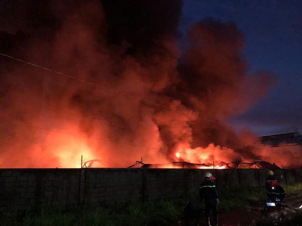 Khoảng 2 giờ sáng nay, tại công ty TNHH TM-DV Phước Sinh xảy ra vụ hỏa hoạn kinh hoàng.
