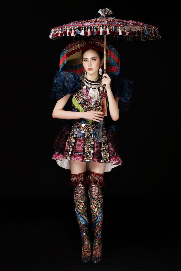 Diệu Linh hoá sơn nữ, mang trang phục dân tộc HMông chinh chiến tại Nữ hoàng Du lịch Quốc tế 2018