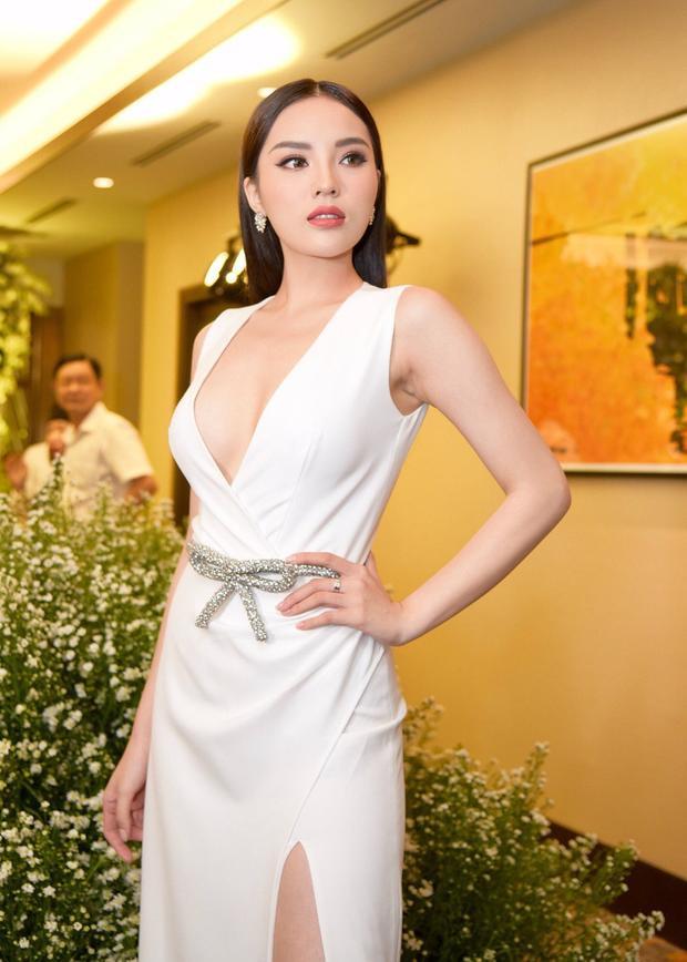 Nhưng lại hữu dụng khi về tay của HLV The Look. Hoa hậu Việt Nam 2014 biết khai thác tối đa để phô diễn hình thể nóng bỏng thu hút vạn ánh nhìn.