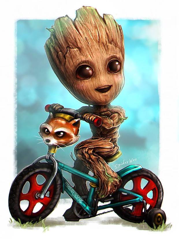 Cậu bé Groot luôn đáng yêu mọi lúc.