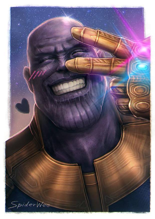 Cứ cười tươi thế này thì Thanos sẽ quên ngay ước mơ hủy diệt nửa vũ trụ thôi.