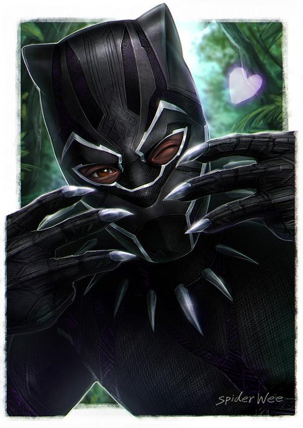 Black Panther nháy mắt khoe hàng vuốt sắc nhọn.