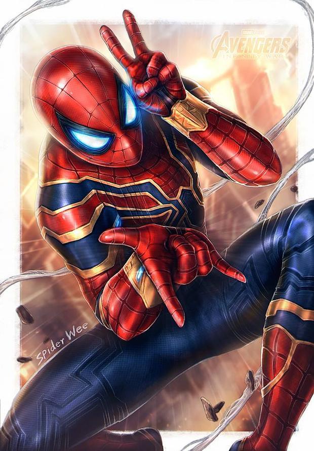 Ai thấy điều gì đặc biệt ở đôi tay bắn tơ của người nhện không? Chào cậu nhé, Peter!