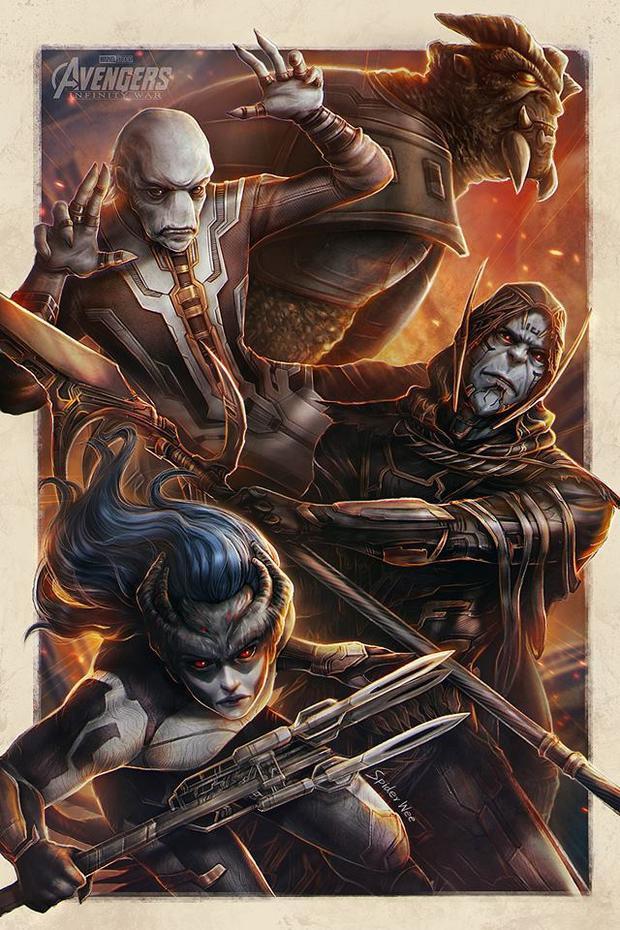 Bạn có nhận ra loạt nhân vật phản diện, tay sai của Thanos trong bức hình này?