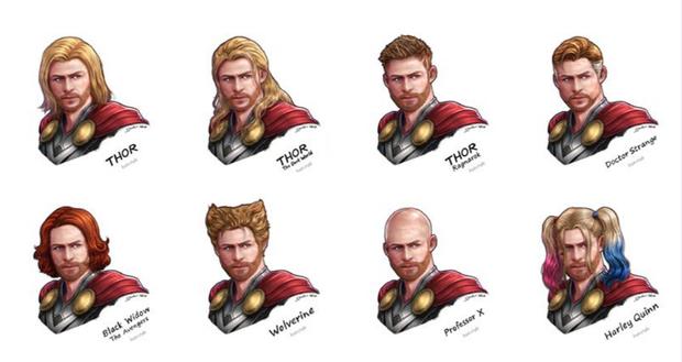 Còn đây là ngàn lẻ một kiểu đầu vô cùng hợp mốt dành cho Thor.
