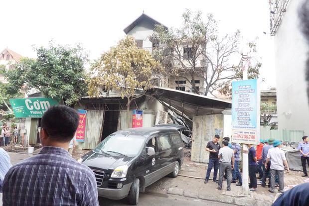 Ngôi nhà nơi xảy ra hỏa hoạn.