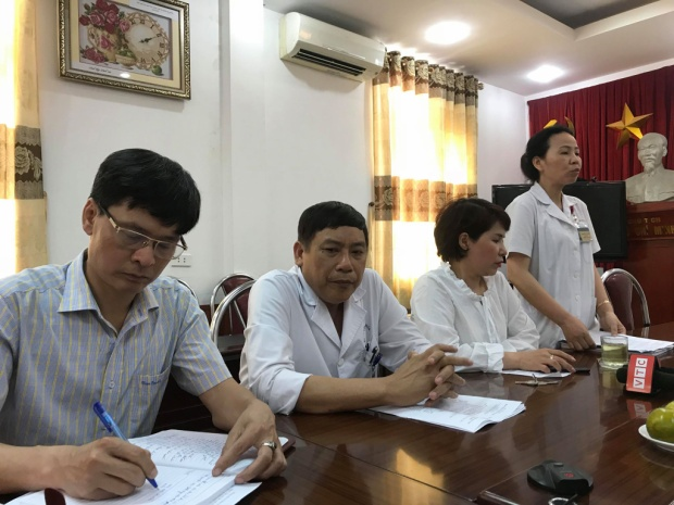 Bệnh viện Hà Đông báo cáo nhanh với Sở Y tế Hà Nội.