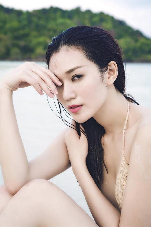 """Ngoài số đo 3 vòng bốc lửa, Khánh My còn có gương mặt rất """"điện ảnh"""", giúp cô có được nhiều vai diễn thành công."""
