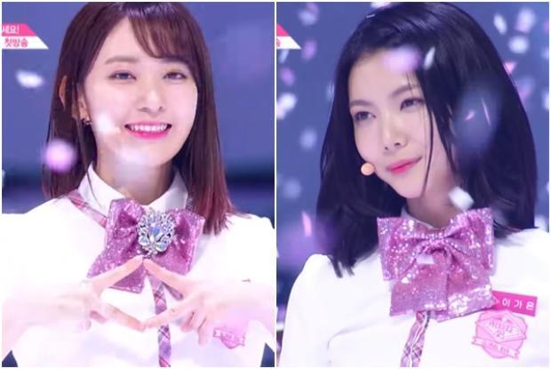 2 cô nàng center hôm nay: Miyawaki Sakura - Lee Kaeun.