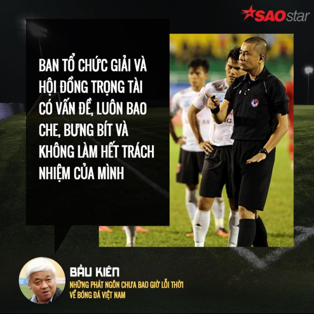 Câu nói này của bầu Kiên khiến nhiều người suy nghĩ về sự trong sạch của bóng đá Việt Nam