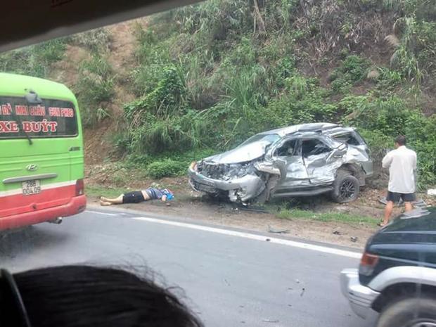 Hiện trường vụ tai nạn: Ảnh: FB Nguyễn Hồng Ánh.