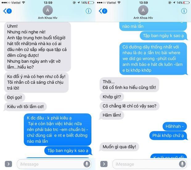 Những tin nhắn của Phạm Anh Khoa vừa được Phạm Lịch tiết lộ.