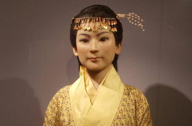 Bức tượng mô phỏng khuôn mặt củaXin Zhui.