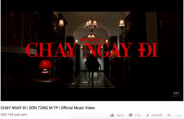 Chạy ngay đi của Sơn Tùng cán mốc 500.000 views sau 15 phút.