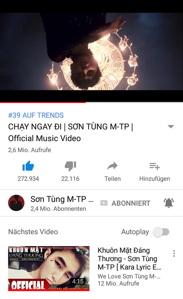 MV Chạy ngay đicòn đứng #39 top thịnh hành Youtube.