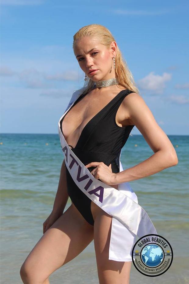 Đại diện Latvia có nhan sắc kém nổi bật, sự thể hiện của cô cũng vì thế mà yếu thế trước đối thủ.