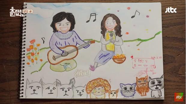 Bức tranh do Yoona vẽ tặng riêng cho vợ chồng Hyori.