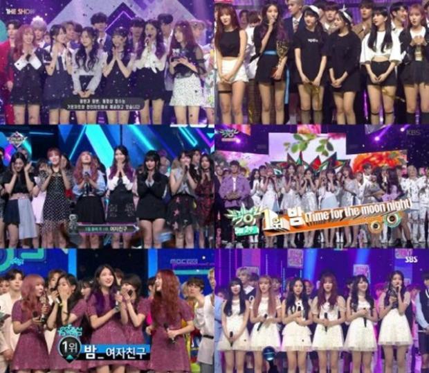 Nhờ đó các cô nàng liên tục giật cúp trên: The Show, Show Champion, M!Countdown, Music Bank, Music Core và Inkigayo. Những cái tên gây bão trong thời gian qua là TWICE hay WINNER cũng chưa làm được điều này.