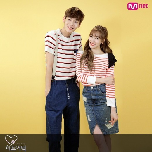 Tiffany như em gái của Lee Chul Woo vì cả 2 chênh lệch 27cm chiều cao, thực tế, thành viên SNSD lớn tuổi hơn đồng nghiệp.