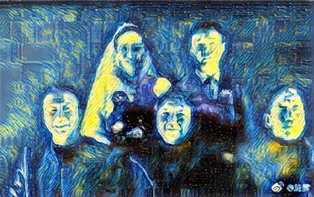 Có người trêu đùa bằng cách chuyển ảnh theo phong cách Van Gogh.