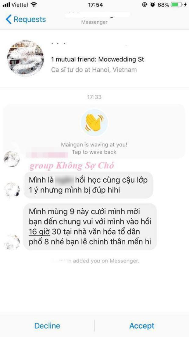 Câu chuyện mời cưới trớ trêu của 1 cô gái được chia sẻ trên mạng xã hội.