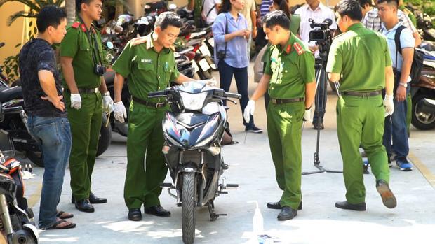 Tang vật, đồng thời là phương tiện gây án - chiếc xe Exciter của nhóm đối tượng trộm xe. Ảnh: Vietnamnet.