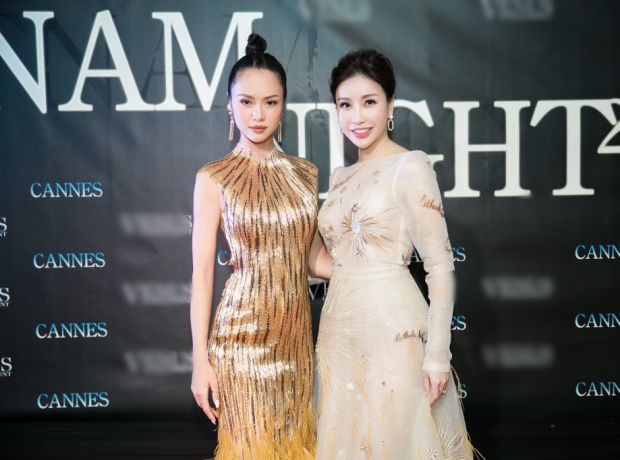 """Nữ diễn viên """"Lôi Báo"""" cùng hoa hậu Lam Cúc."""