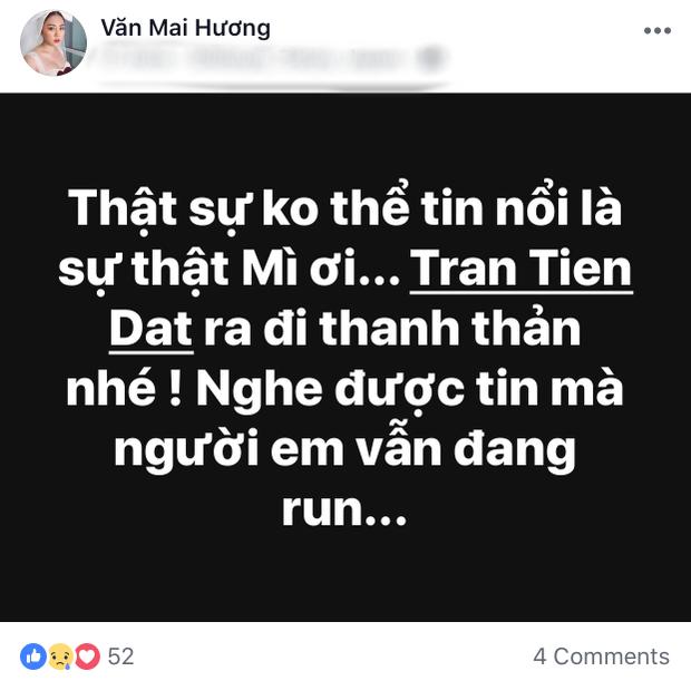 Văn Mai Hương không thể tin đây là sự thật.