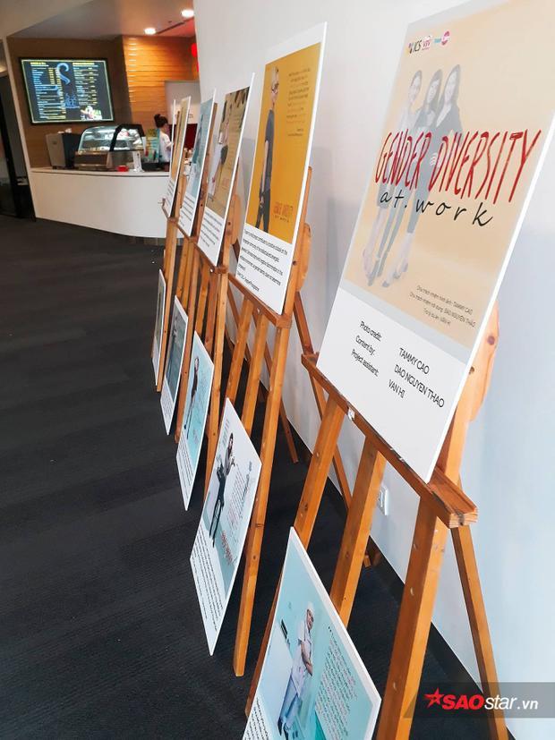 """""""Sự đa dạng giới tính trong công việc"""" là tên của buổi triển lãm poster này."""