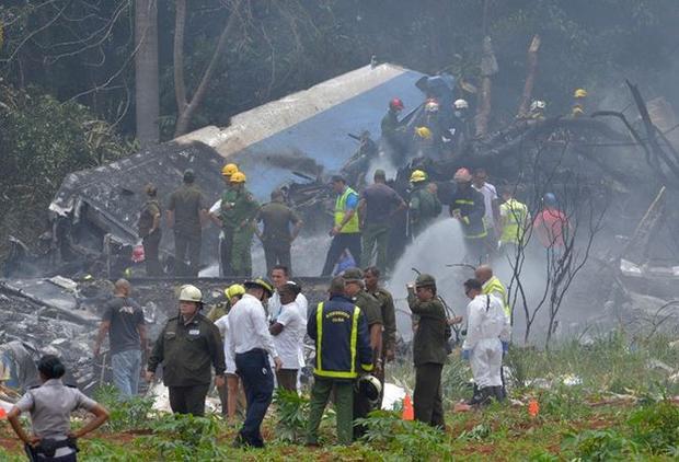 Hiện trường vụ tai nạn. Ảnh: AFP