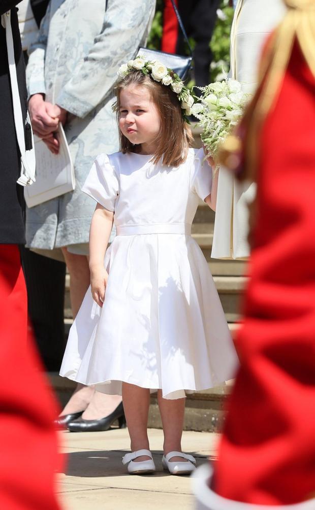 Vẻ đáng yêu củaCông chúa Charlotte. Ảnh: AFP