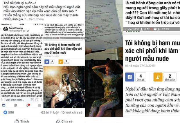 Câu chuyện buồn giữa nghệ sĩ và người mẫu khoả thân