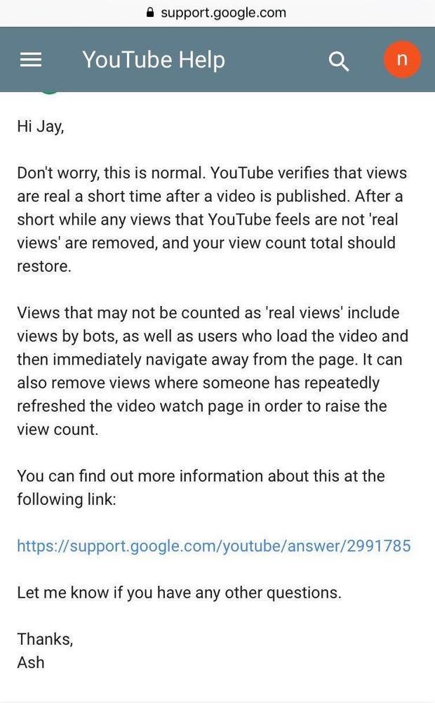 YouTube phản hồi 1 fan BTS về việc bị trừ view.Trước cú sốc này, hiện cộng đồng fan BTS trên toàn thế giới đang vận động nhau cày view đúng cách và cẩn thận hơn.