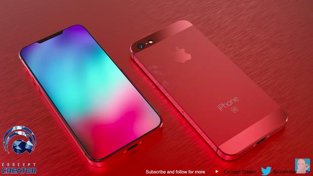 Thay vì sở hữu sườn máy cong bán elip như trên iPhone 8, 8 Plus hay iPhone X, chiếc iPhoen SE2 trong hình dung của tác giả có sườn máy phẳng khiến tổng thể máy khá nam tính và chắc chắn.