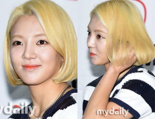Hyoyeon cũng mắc sai lầm chọn nhầm màu phấn nền.