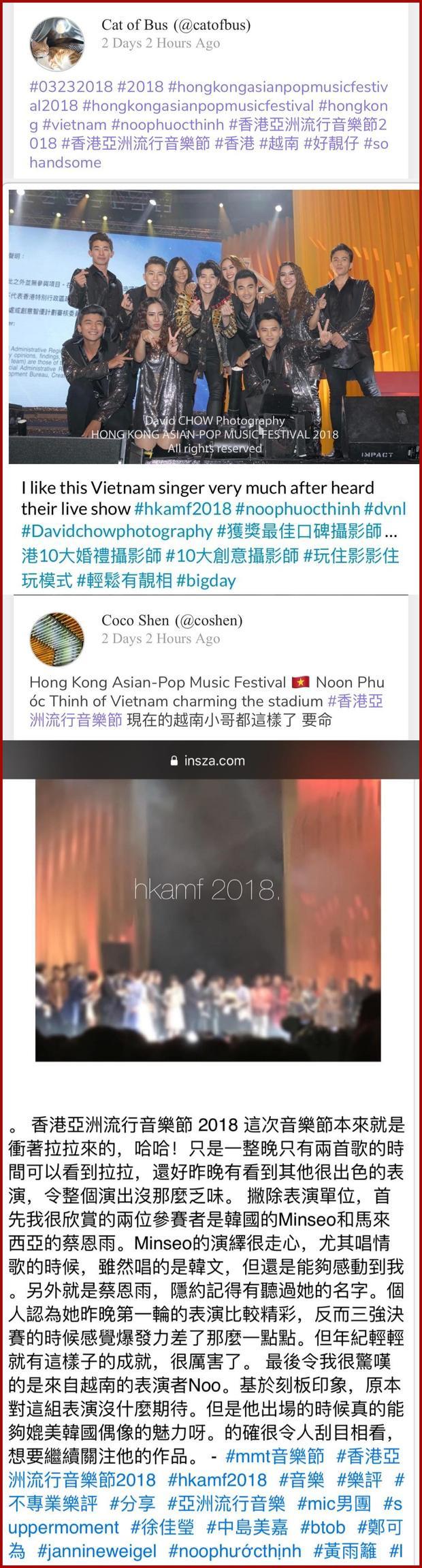 Có những bình luận khen Noo rất đẹp trai hoặc thích nghe Noo hát dù không hiểu và màn giao lưu bằng tiếng Anh vô cùng trôi chảy cũng ghi điểm cho sự chuyên nghiệp trong mắt khán giả.
