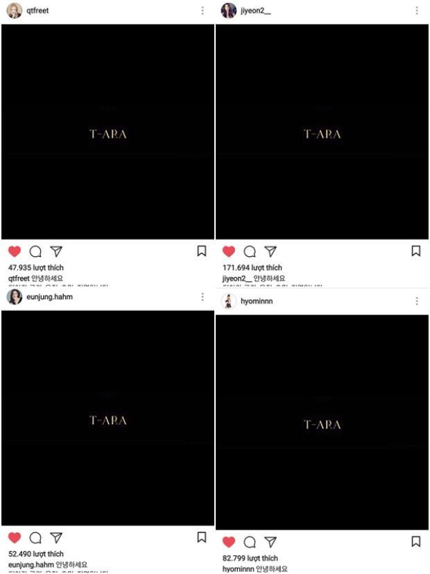 """Đây là bức ảnh 4 thành viên T-ara dùng để đính chính tin đồn các cô nàng nhận tiền và siêu xe từ đại gia. Sẽ chẳng có gì đặc biệt nếu không nhận ra Font chữ """"T-ARA"""" trong hình là font chữ được dùng trong album Remember - album có mặt đầy đủ 6 cô gái."""