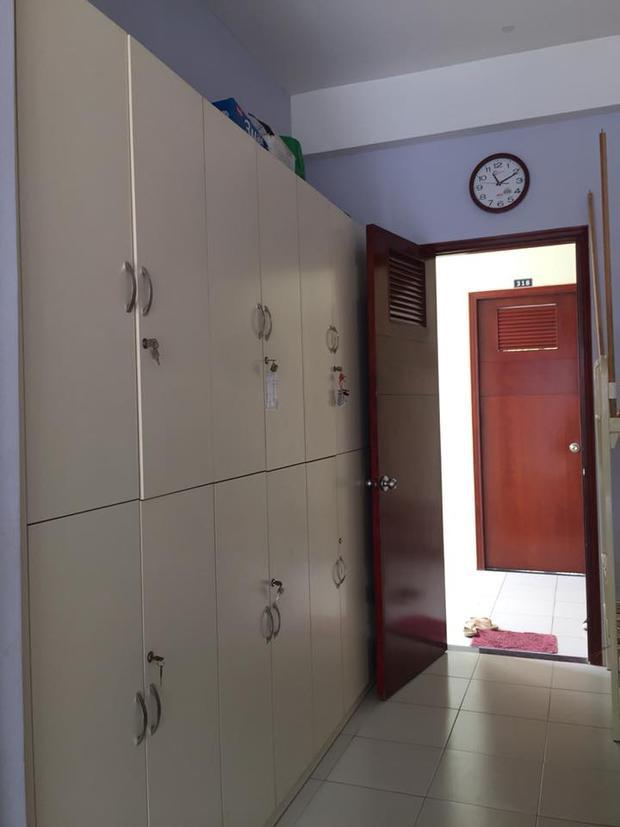 Tủ đựng đồ được trang bị sẵn.