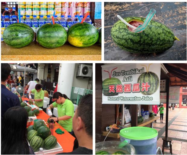 Trời hè nóng nực mà có món dưa hấu uống trực tiếp từ quả của Malaysia thì đúng là không còn gì tuyệt hơn