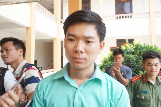 Bị cáo Lương không bằng lòng với mức án đề nghị của đại diện Viện kiểm sát.