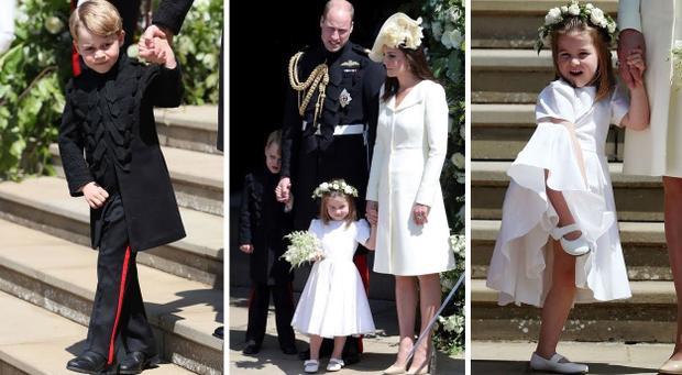 Hoàng tử George và Công chúa Charlotte là phù dâu, phù rể nhí trong đám cưới chú ruột. Ảnh: YouTube